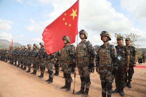 """""""金龍-2020""""中柬兩軍聯合訓練舉行反恐演練和結訓儀式"""