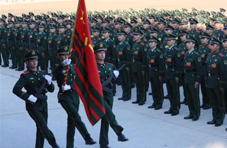 武警北京總隊執勤第二支隊舉行2020年度新兵授銜儀式