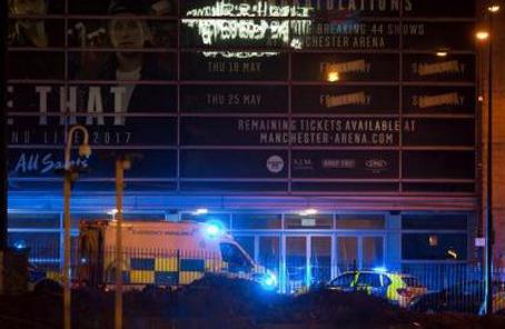 英首相譴責曼徹斯特恐襲案 警方逮捕一名嫌疑人