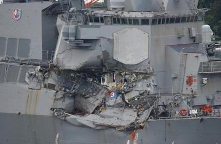 美海軍撞船事故調查:7名遇難士兵中或5人當即死亡