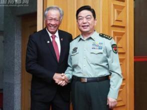 常萬全會見新加坡國防部長