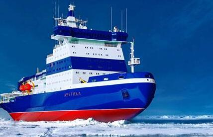 """俄羅斯""""西伯利亞""""號核動力破冰船船體下水"""