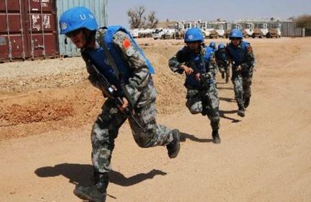 中孟維和部隊在南蘇丹開展聯合防衛演練