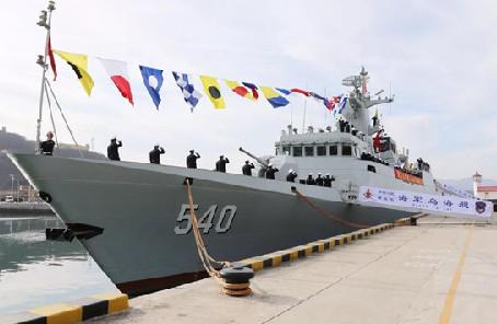 新一代輕型護衛艦烏海艦正式入列